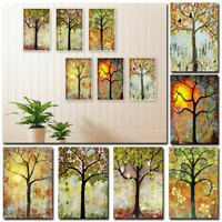Tree of Life Art Wall Painting Canvas Frameless Printing Picture Home Deco XMU