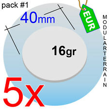 5x ROUND CLEAR ACRYLIC BASE 40mm REDONDA METACRILATO TRANSPARENT SOCLE ROND