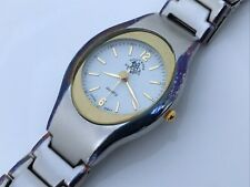 Hollywood Polo Watch Silver Gold Tone Analog Wrist Watch Japan Movement