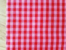 "58"" wide Pink/Red GINGHAM COTTON fabric plaid check summer craft dress children"