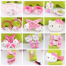 Kawaii Hello Kitty Hair Accessories Ring Earring Band Clip Brooch Lolita Prop