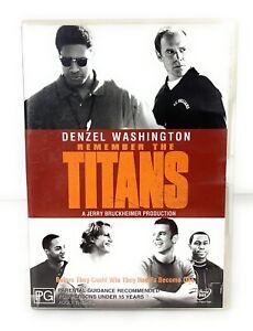 Remember The Titans (DVD) Sport - Drama - Denzel Washington Region 4