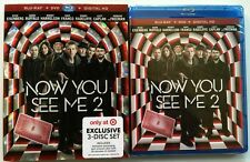 NEW NOW YOU SEE ME 2 BLU RAY DVD DIGITAL HD TARGET EXCLUSIVE 3 DISC + SLIPCOVER