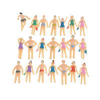 20pcs Colorful 1:75 Painted Model Beach Swimming People Figures  NMCANICA