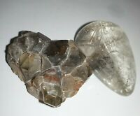 Rutile Quartz Palm Stone Gold Hair Crystal Cluster Lot Geode Natural Healer raw