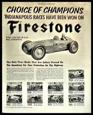 1953 Indianapolis Indy 500 Speedway Vukovich Racing Firestone Tires Photo AD
