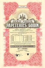SA des Papeteries Godin, accion, 1957 (Siege a Huy)