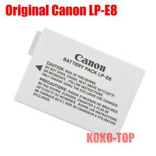 Genuine Canon LP-E8 Battery For Rebel T3i T4i T5i Kiss X5 X6 X7i 600D 700D LC-E8