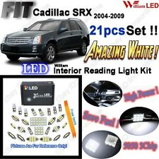 21 Bulbs 2004-2009 For Cadillac SRX LED Interior Dome Light Kit Xenon White Lamp