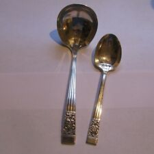 Community Coronation Gravy Ladle and Sugar Spoon Silverplate Flatware VTG LOT