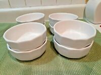 "Set of 8 Vtg Pfalzgraff Heritage White Stoneware Soup Cereal Bowls 5 5/8"""