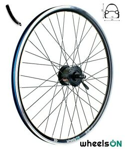 QR 26 inch wheelsON Front Wheel Shimano Dynamo Nexus DH-3000-3N 36H Black 6v/3w