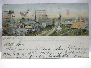 1900 POSTCARD CORNER OF THE PARK, TILYOU'S BEAUTIFUL STEEPLECHASE, CONEY ISLAND