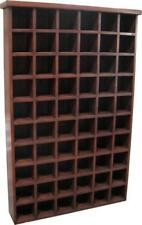 60 Section CD Storage Unit Solid Mahogany In Antique Style H154 x W100 x D20cm