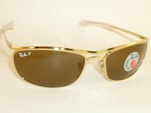 New Ray Ban OLYMPIAN I DELUXE  Sunglasses Gold  RB 3119M 001/57  Polarized Brown