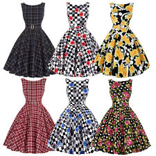 50'S 60'S Skater DRESS Vintage Swing Pinup Retro Housewife Party Prom Dress