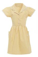 Niña Vestido De Escuela Marks and Spencer 100% COTTON Gingham a Cuadros Azul