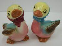 Vintage Anthropomorphic Ducks in Head Scarfs Large Salt & Pepper Shaker Set