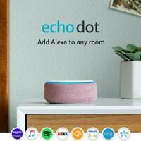 Amazon Echo Dot (3rd Generation) Smart Speaker - Plum w/Alexa NEW