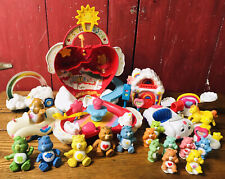 Huge Lot Vintage Care Bears Care A Lot Castle Figures Accessories Toy Kenner Set