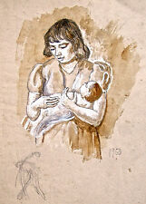 Dorothy Eaton Drawing (XIV) Mother With Baby