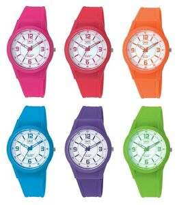 Q&Q Silikon Analog Armbanduhr Uhr Damen Bunte Farbige Uhren Unisex