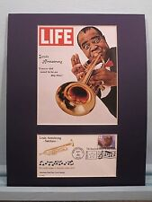 Saluting Satchmo - Louis Armstrong &  First day Cover of his own stamp