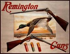 Remington Shotguns Duck Hunting Sporting Cartridges Rifles Tin Sign 16 x 13in