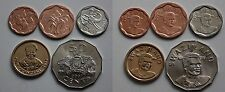 SWAZILAND 5 DIFFERENT HIGH GRADE NEW COINS 2007 - 2011 5 CENTS TO 1 LILANGENI
