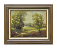 NY Art - Sunny Italian Landscape 12x16 Impressionist Oil Painting with Frame!!