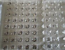 Cubic Zirconia Faceted Loose Stones 8 Hearts & Arrows Round White (5 A) -  8 MM