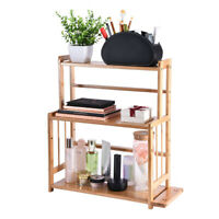 3-Tier Wood Spice Rack Standing Shelf Kitchen Countertop Organizer US Stock