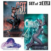 CATWOMAN 80TH ANNIVERSARY - J SCOTT CAMPBELL EXCLUSIVES E & F