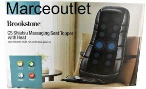 Brookstone C5 Shiatsu Massaging Seat Topper With Heat