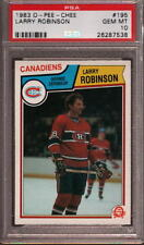 1983 O-PEE-CHEE #195 LARRY ROBINSON CANADIENS HOF PSA 10 H2335598-538