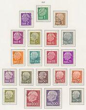 Gestempelte deutsche Briefmarken des Saarlandes (1947-1959) als Satz