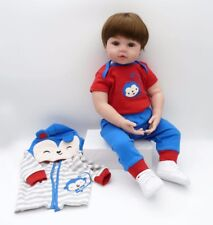 Lifelike Reborn Baby Dolls Silicone Toddler Boys Monkey Patterns Outfit 24inch