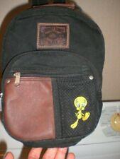 Walt Disney Warner Brothers Looney Tunes Blues Black Denim Tweety Youth Backpack