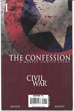 Civil War The Confession #1 2007 VF Marvel Comics Free Bag/Board
