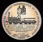 UK 150th Ann. Great Western Railway 1985 Medal 4.5oz Silver 500 Minted SCARCE