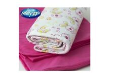 2 x Playgro Purrfect Pets Interlock Baby Wraps Pink White Blanket 70 x 100cm NEW