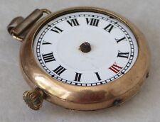 Elgin Reloj De Trinchera chapado en oro para repuestos o reparación, Estuche De 30mm.