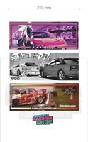 XSWRAPS TRIPLE PACK CAR slap sticker decal anime jdm jap drift stance 200x80
