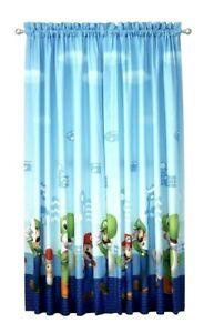 "NEW Super Mario Bedroom Room Curtains 2 Panels Window Microfiber 82"" x 63"""