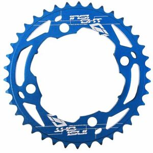INSIGHT bmx 4 bolt CHAINRING  black/red/blue /silver 104mm
