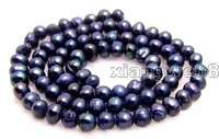 """4-5mm Black Natural Freshwater Round Pearl Beads Jewelry Making Loose Strand 14"""""""
