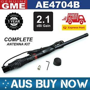 GME AE4704B 2.1dBi UHF CB AERIAL ANTENNA RADIOS BLACK RADOME 477MhZ TRUCK CAR