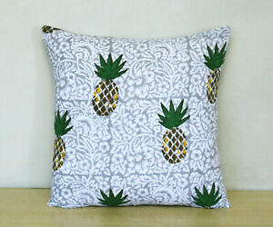Beautiful Cotton Square Indian Floral Cushion Cover Pillow Cover Pillow Cases