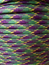 550 Multi Color Paracord Mil Spec Type III 7 strand Kayak Canoe Boat 10-100ft
