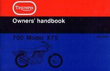 Triumph Hurricane X75 Owner's Handbook USA Triple 1974 Original Book NOS Manual